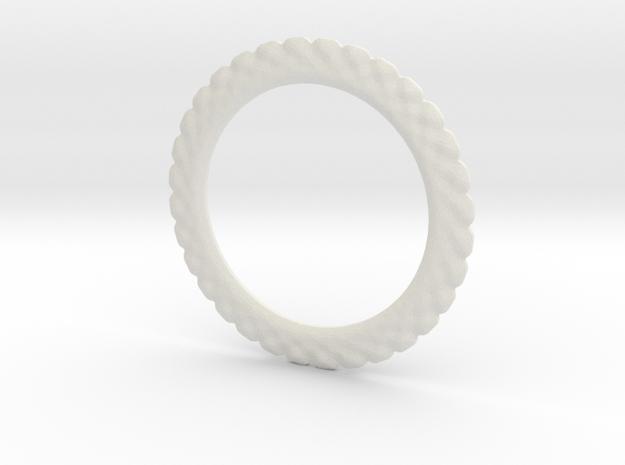 Soften ring shape for earrings or pendant in White Natural Versatile Plastic