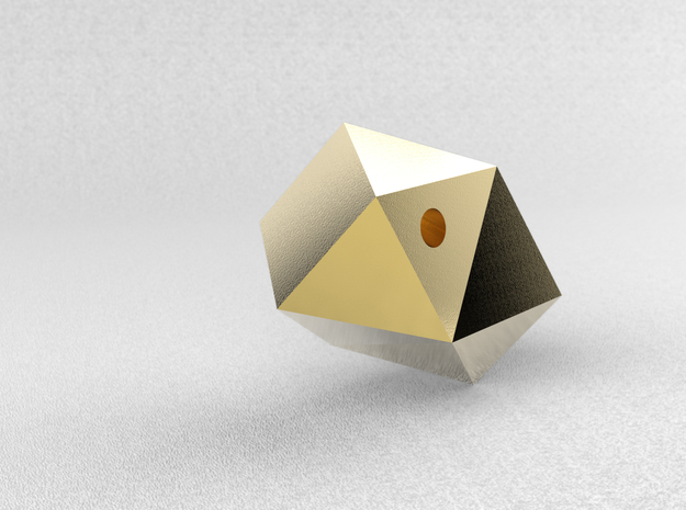 Go Geometric Pendant Egg in Polished Gold Steel