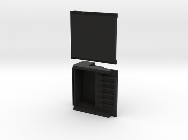 41 module double stack 2pc r2 in Black Natural Versatile Plastic