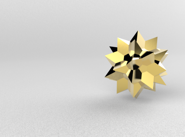 Go Geometric Homeware Star in Polished Gold Steel: Small