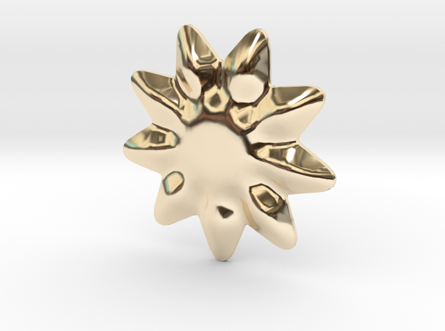Tiny flower for jewelry making in 14k Gold Plated Brass