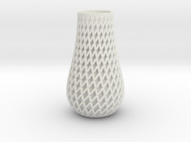 Double_Spiral_Vase2 in White Natural Versatile Plastic