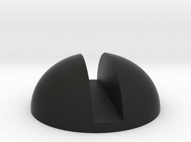 Screw Head in Black Natural Versatile Plastic