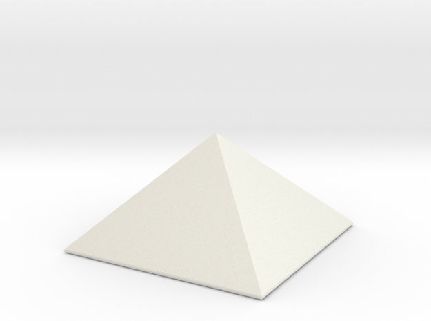 Stubby Pyramid Spike in White Natural Versatile Plastic