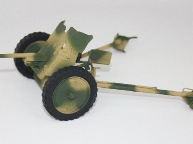1:18 Pak 36 - 37mm German Anti-Tank Gun - v1 in White Strong & Flexible