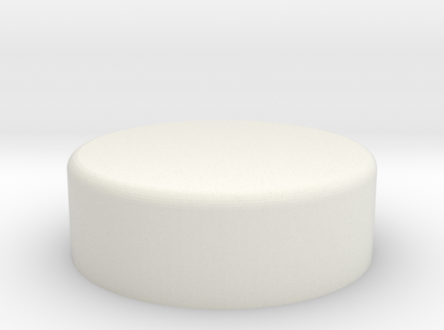 AT-AT Commander Round Flat in White Natural Versatile Plastic