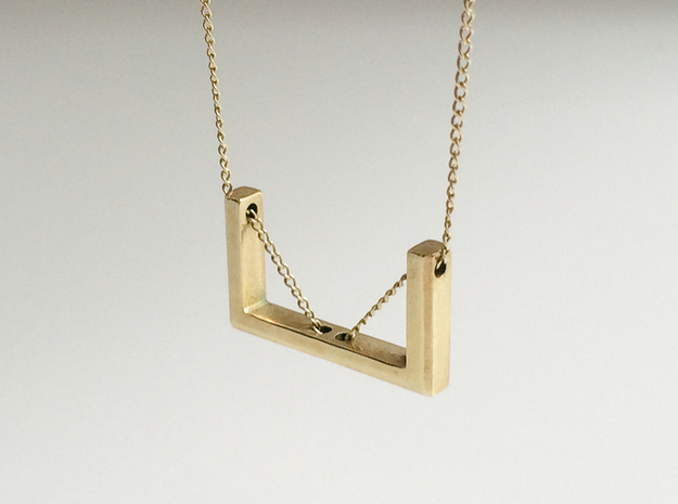 U Pendant in Polished Brass