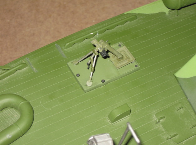 M2 mortar tube  (1:18 scale) -PASSED- in Smooth Fine Detail Plastic: 1:18