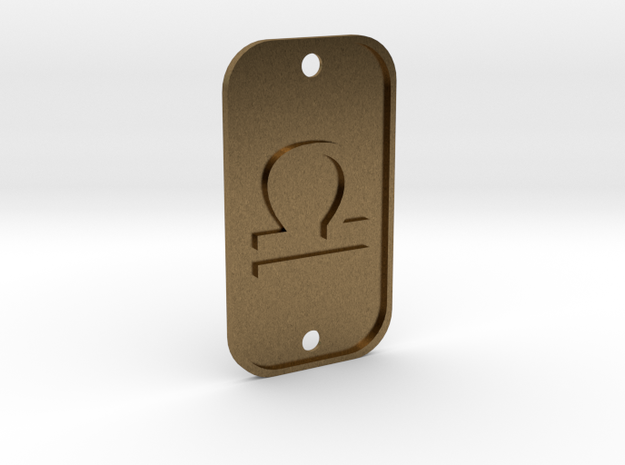 Libra (The Scales) DogTag V1 in Natural Bronze