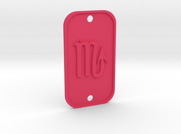Scorpion (The Scorpion) DogTag V1 in Pink Processed Versatile Plastic