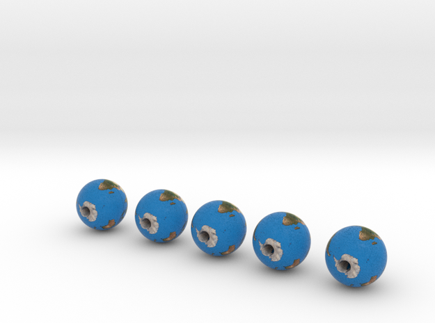 Earth with equator set of 5