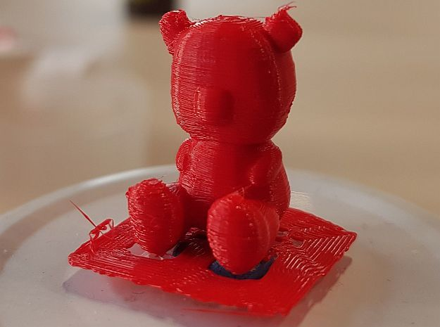 TinyTeddy in Red Processed Versatile Plastic