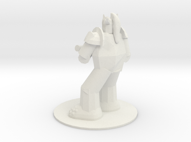 Armored Troll with Scythe in White Natural Versatile Plastic