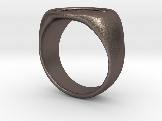 Joker's Circle Ring - Metals in Polished Bronzed Silver Steel: 3 / 44