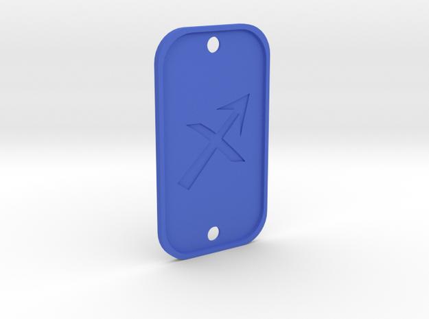 Sagittarius (The Archer) DogTag V4 in Blue Processed Versatile Plastic
