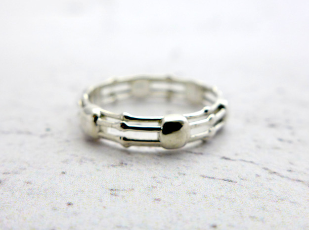 Skeletonema ring in Polished Silver: 10.25 / 62.125