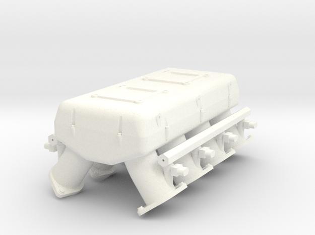 LS3 1/12 dual carb intake w/injectors