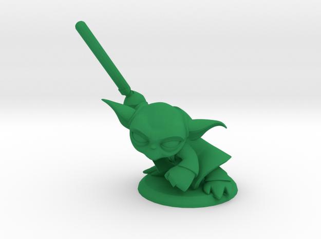 Master Yoda in Green Processed Versatile Plastic