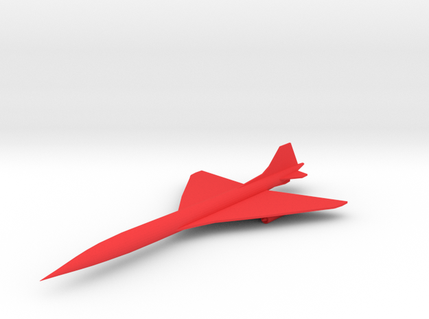 SST (Supersonic Transport) Airliner in Red Processed Versatile Plastic