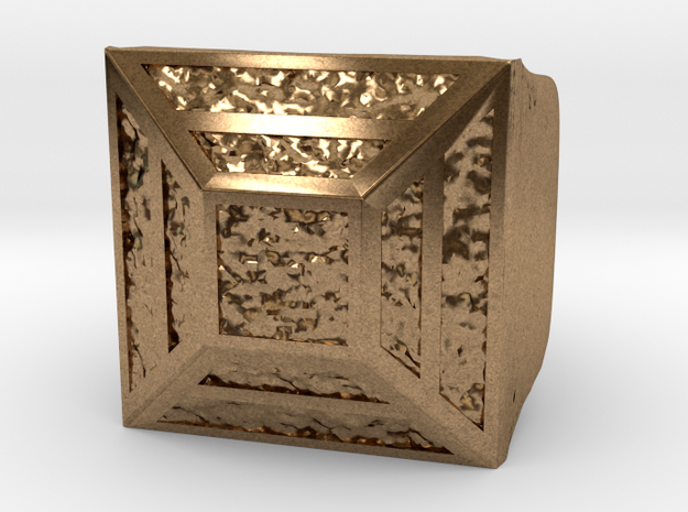 Joker's Pyramid Ring - Metals in Natural Brass: 7.5 / 55.5