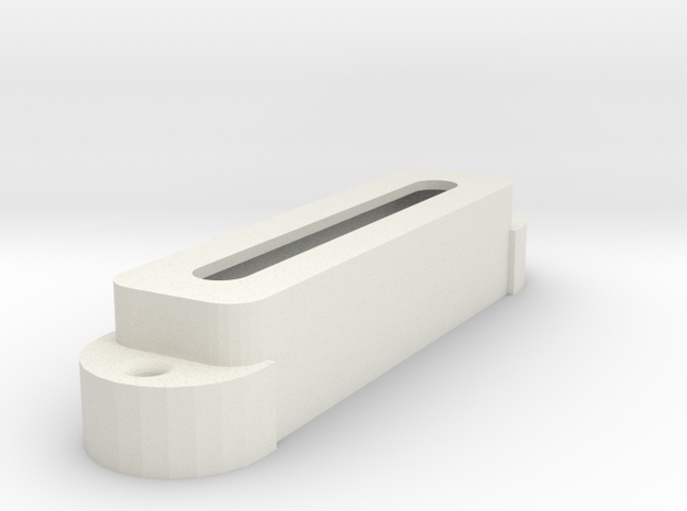 Jag PU Cover, Single, Open in White Premium Versatile Plastic