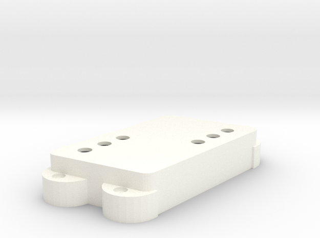 Jag PU Cover, Double, Angled, WR in White Processed Versatile Plastic