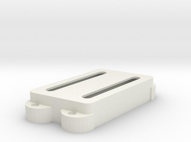 Jag PU Cover, Double, Angled, Open in White Premium Versatile Plastic