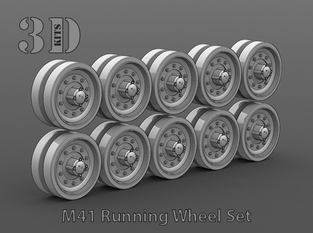 M41 Road Wheel Set in Smooth Fine Detail Plastic