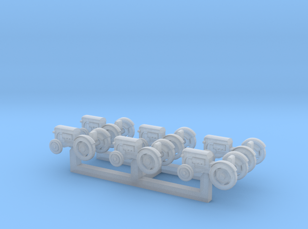 (1:450) Pack of 6 Tractors in Smooth Fine Detail Plastic