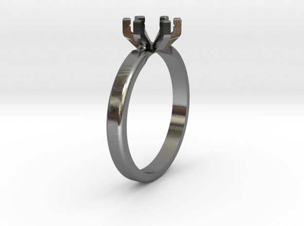 Ring Base STL in Polished Silver