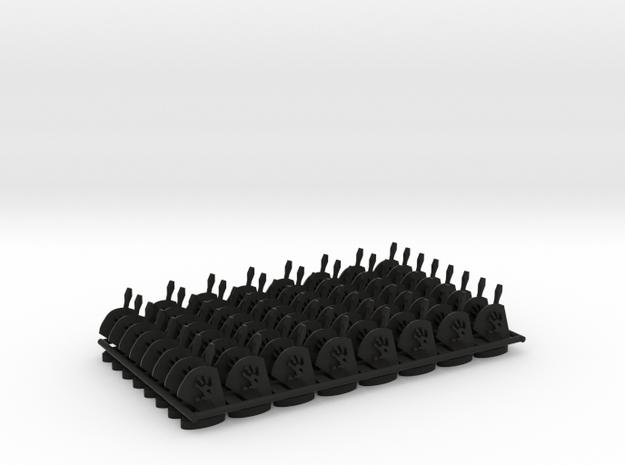 Play Figure Uruk-Hai, Orks in Black Natural Versatile Plastic
