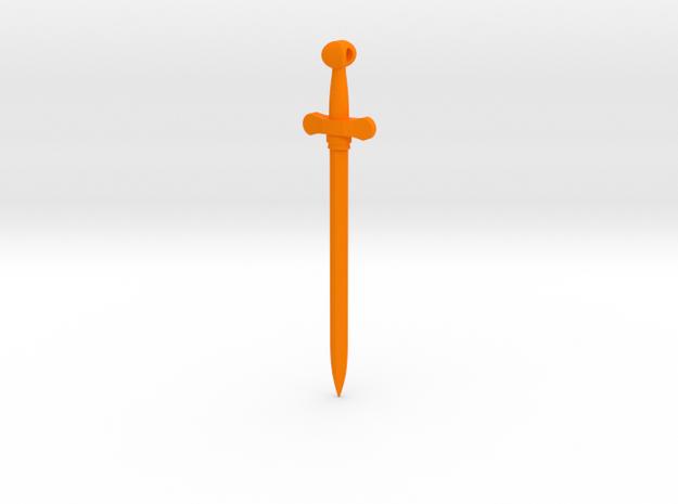 Rider-Waite Sword Pendant in Orange Processed Versatile Plastic