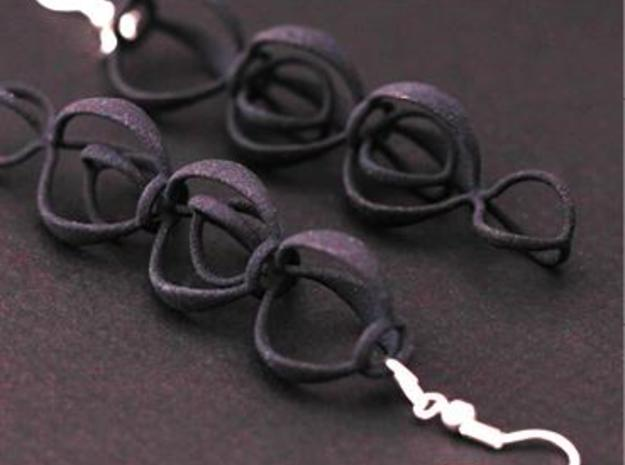 BERRIES - earrings in Black Natural Versatile Plastic