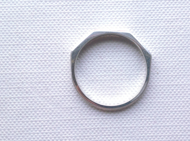Jean Ring 3d printed Polished Silver
