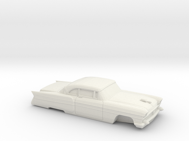 1/32 1956 Packard Executiv Coupe in White Natural Versatile Plastic