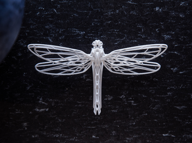 Dragonfly Clip   Odonata N° 1 in White Natural Versatile Plastic