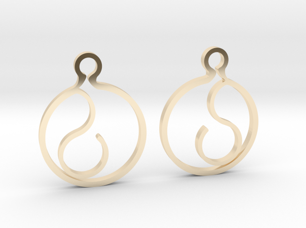"""""""Ask me anything"""" Earrings in 14k Gold Plated Brass"""