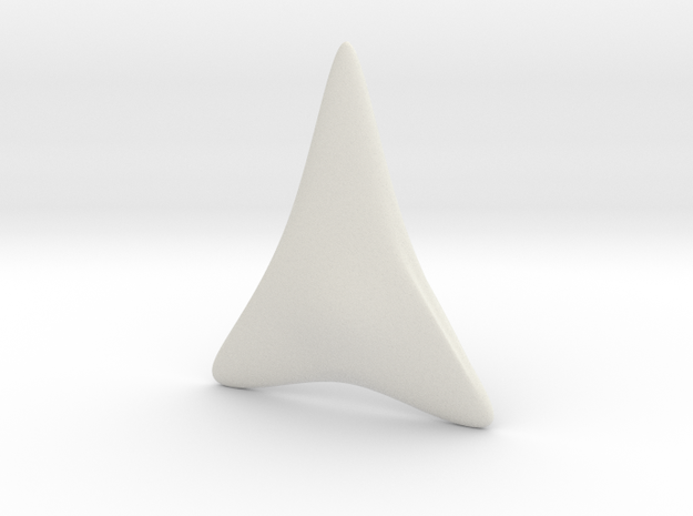 Shark Tooth in White Strong & Flexible