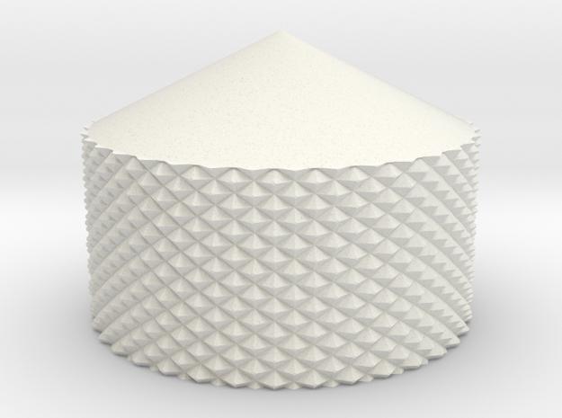 AT-AT Knurled Thumb Screw in White Natural Versatile Plastic