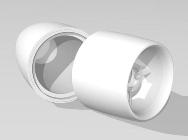 Split 30mm edf and nacelle unit in White Natural Versatile Plastic