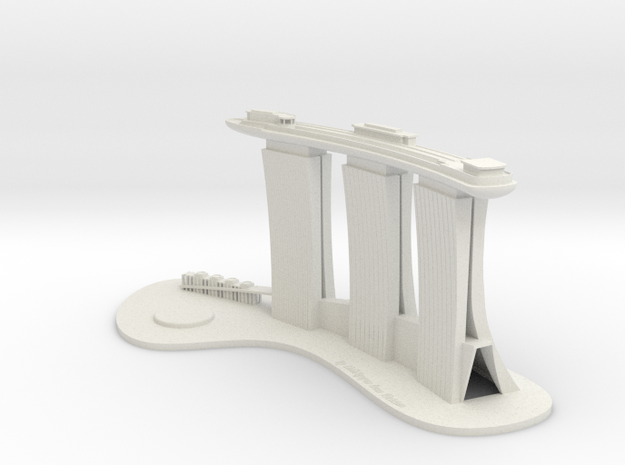 Marina Bay Sand - Sky Park (Test Acc) in White Natural Versatile Plastic