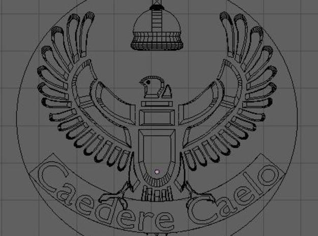 AirCorps Cap Badge 3d printed