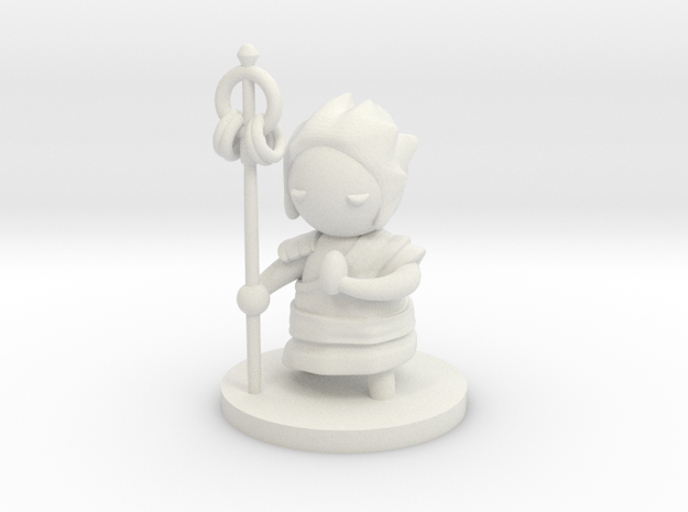 Tranquil Monk in White Natural Versatile Plastic