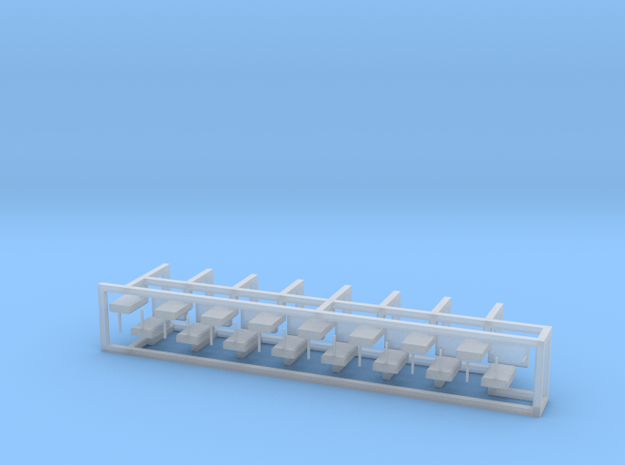 Weichenantrieb funktionslos 30erSet - TT 1:120 in Smooth Fine Detail Plastic