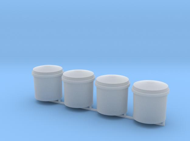 Sulfiderzbehälter 4erSet - 1:120 TT in Smooth Fine Detail Plastic