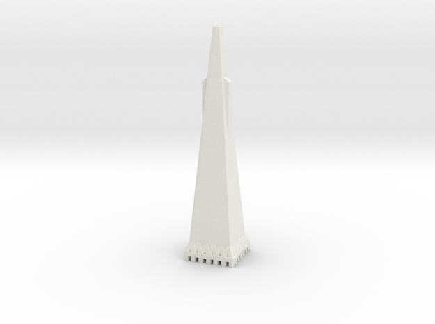 Transamerica Pyramid - San Francisco (1:4000) in White Natural Versatile Plastic