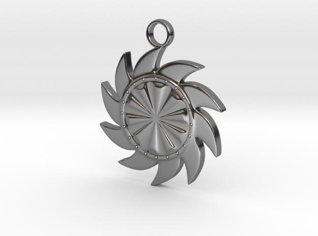 Sun V3 in Fine Detail Polished Silver