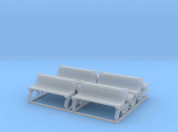 Bench type B (duble) - TT ( 1:120 scale ) 4 Pcs se in Smooth Fine Detail Plastic