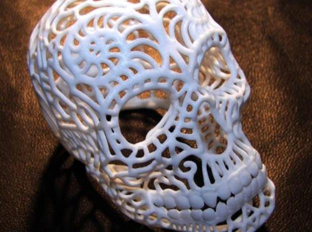 Nautilus Sugar Skull - MEDIUM 3d printed WSF Polished Material
