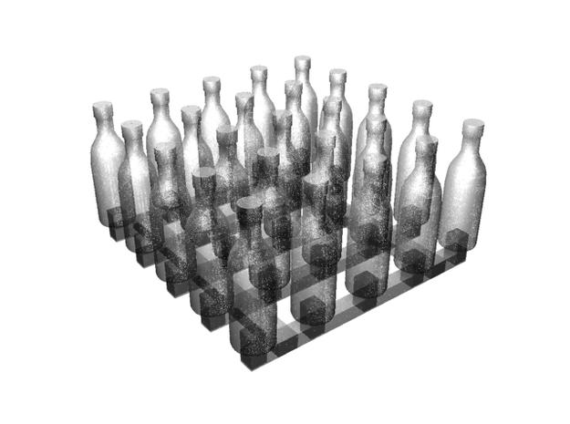 Bottles of Vodka/Vine x25 3d printed 3d render
